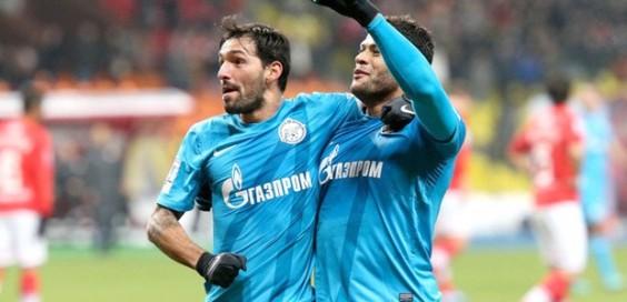 Hulk comemora gol contra o Spartak